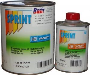 Купить H89 Матовый лак Sprint Vanity Clear Coat HS 5:1 (1л) + отвердитель C89 (0,2л) - Vait.ua