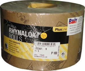 Купить Абразивная бумага в рулоне на латексной основе INDASA RHYNALOX PLUS LINE (Плюс линия), 115мм x 50м, P240 - Vait.ua