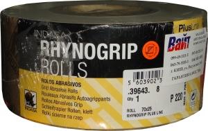 Купить Абразивная бумага INDASA RHYNOGRIP PLUS LINE ROLL (Плюс линия) в рулоне с системой Velcro без отверстий, 70мм x 25м, P220 - Vait.ua