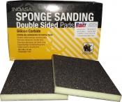 Двухсторонний абразивный блок INDASA Abrasive Sponge Wood, 98х122х13мм, Р100
