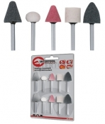 Набор шлифовальных камней INTERTOOL BT-0015 (5 шт)