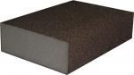 Четырехсторонний абразивный блок KAEF на среднем эластичном поролоне, серия 100, 98х69х26 мм, K150 (P280)