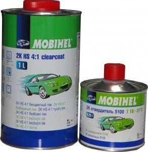 Купить 2К HS Акриловый лак Mobihel 4:1 (1л) + отвердитель 5100 (0,25л) - Vait.ua