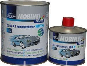 Купить 2K HS 4:1 компактпраймер MOBIHEL WINTER (зимний) low VOC (1л) + отвердитель 710 (0,25л), серый - Vait.ua