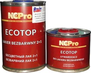 Купить Двухкомпонентный акриловый лак NCPro MS ECOTOP (1л) + отвердитель (0,5л) - Vait.ua