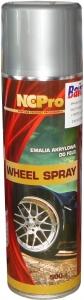 Купить Акриловая универсальная эмаль для дисков NCPro WHEEL SPRAY серебро светлая, 500 мл - Vait.ua