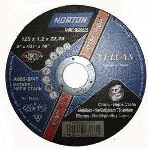 Купить Круг отрезной по металлу «NORTON» VULKAN, 125мм х 1,2мм - Vait.ua