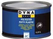 Полиэфирная шпатлевка по пластику DYNA Polyester Putty Plastic, 0,25л
