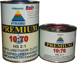 Купить 2К акриловый-уретановый лак Pyramid ACRYL-URETHANE CLEAR HS (1л) + отвердитель (0,5л) - Vait.ua