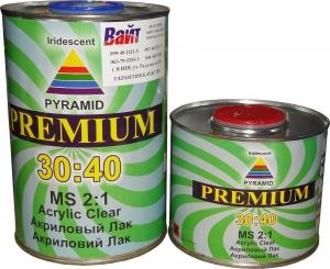 Купить 2К акриловый лак 30:40 Pyramid PREMIUM MS (1л) + отвердитель (0,5л) - Vait.ua