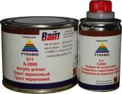Акриловый грунт-порозаполнитель PYRAMID 5:1 (400 мл) + отвердитель (80 мл), серый