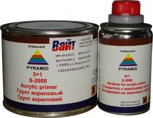 Купить Акриловый грунт-порозаполнитель PYRAMID 5:1 (400 мл) + отвердитель (80 мл), черный - Vait.ua