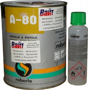 Купить A-80 Шпатлевка жидкая с катализатором Roberlo, 1л - Vait.ua