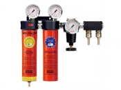 SATA Двухступенчатый фильтр Sata 244  для зон подготовки с регулятором давления и выходным модулем G 1/4