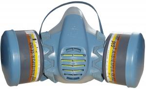 Купить Маска защитная силиконовая Scott Profile2 в комплекте с комбинированными угольными фильтрами A1B1E1P3, размер L (большая) - Vait.ua
