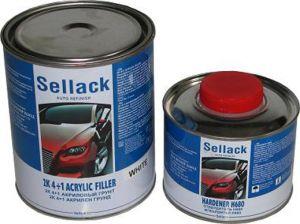 Купить 2К Акриловый грунт 4+1 Sellack (1л) + отвердитель (0,25л), белый - Vait.ua