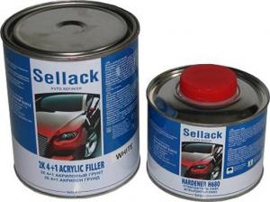 Купить 2К Акриловый грунт 4+1 Sellack (3л) + отвердитель (0,75л), белый - Vait.ua