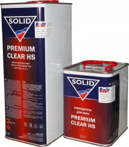 Купить Акрил-уретановый лак Solid PREMIUM CLEAR HS с повышенным сухим остатком (5л) + отвердитель (2,5л) - Vait.ua