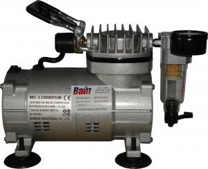 Купить MC-1100HFGM Миникомпрессор SUMAKE низкого давления с фильтром и шлангом 1/8HP - Vait.ua