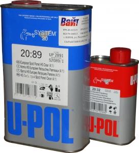 Купить S2089/1 Акриловый лак Spot/Panel Clear HS 4:1 U-POL с ускоренным временем сушки (4-6 часов) 1л + отвердитель 2032/SM 0,25л - Vait.ua