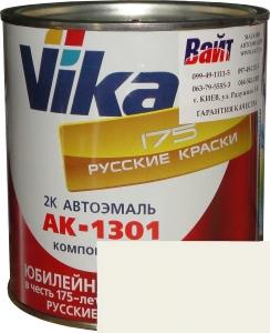 """Купить 201 Акриловая автоэмаль Vika АК-1301 """"Белая"""" (0,85кг) в комплекте со стандартным отвердителем 1301 (0,21кг) - Vait.ua"""