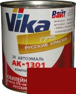 """Купить 42 Акриловая автоэмаль Vika АК-1301 """"Красная"""" (0,85кг) в комплекте со стандартным отвердителем 1301 (0,21кг) - Vait.ua"""