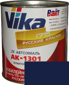 """Купить 447 Акриловая автоэмаль Vika АК-1301 """"Синяя полночь"""" (0,85кг) в комплекте со стандартным отвердителем 1301 (0,21кг) - Vait.ua"""