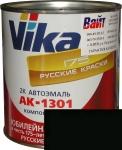"""601 Акриловая автоэмаль Vika АК-1301 """"Черная"""" (0,85кг) в комплекте со стандартным отвердителем 1301 (0,21кг)"""