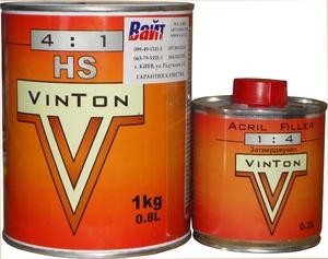 Купить Акриловый 2К грунт 4:1 HS VinTon (0,8л) + отвердитель (0,2л), серый - Vait.ua