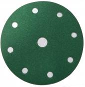 00314 Абразивный диск 3М на липучке D150мм, 8+1отв., зеленый, Р100 Hookit