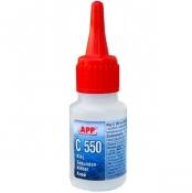 040507 Клей циано-акриловый APP C-550 (для резины и пластмассы), 20мл