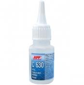 040511 Клей циано-акриловый APP C-630 (для резины, пластмассы и EPDM), 20мл