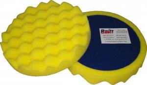 """Купить 04504 Круг полировальный PYRAMID крепление """"липучка"""", высота 25мм, d150мм, рельефный, желтый - Vait.ua"""