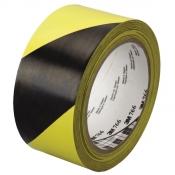 04585 Виниловая лента 3M 5702, 50мм х 33м черно-желтая износостойкая