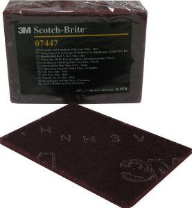 Купить 07447 Scotch-Brite Абразивные листы скотч-брайт 3M, ''сверхтонкий'', 158мм х 224мм, красный  - Vait.ua