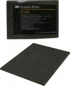 07448 Scotch-Brite Абразивные листы скотч-брайт 3M, ''ультратонкий'', 158мм х 224мм, серый