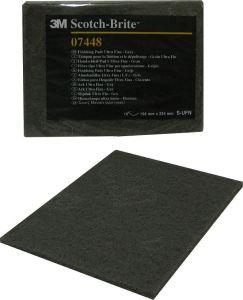 Купить 07448 Scotch-Brite Абразивные листы скотч-брайт 3M, ''ультратонкий'', 158мм х 224мм, серый  - Vait.ua