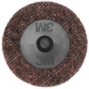Диск Scotch-Brite (скотч-брайт) с креплением Roloc SC-DR, d50мм, A MED (красный)