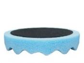 080401 Полировальная губка профилированная универсальная APP f150 на липучке, 150мм х 2,5см, голубая