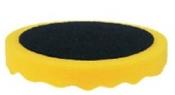 080405 Полировальная губка профилированная универсальная APP f150 на липучке, 150мм х 2,5см, желтая