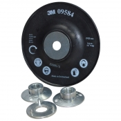 09584 Сменная оправка для фибровых кругов 3M (ребристая), 127мм х 22 мм