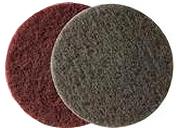 Купить Абразивный войлок (скотч-брайт) Corcos в дисках для матования поверхности FINE D150, серый - Vait.ua
