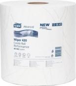 130041 Двухслойная протирочная бумага Tork Advanced, 255м, 750 листов, супер мягкая, белая