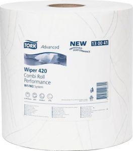 Купить 130041 Двухслойная протирочная бумага Tork Advanced, 255м, 750 листов, супер мягкая, белая - Vait.ua