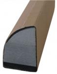 """Оправка под абразивную бумагу вид L профи (серия """"VTP""""), крепление Velcro, 195х32х45"""