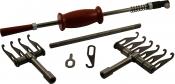 Комплект: Рихтовочный обратный молоток в комплекте с крючком,шайбой и ручкой, зацеп на 4 и зацеп на 6 крючков