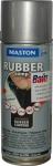 """Синтетическое резиновое покрытие Maston RUBBERcomp """"Серебристый глянцевый"""" в аэрозоле, 400мл"""