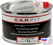 2-182-1000, C.A.R.FIT, Alu & Soft Plus Putty, 2K Полиэфирная шпатлевка с алюминиевым наполнением, 1,0кг