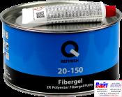 20-150-1800, Q-Refinish, Полиэфирная шпатлевка FIBERGEL со стекловолокном, 1,8кг