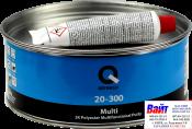 20-300-1000, Q-Refinish, Полиэфирная шпатлевка MULTI мультифункциональная, 1кг